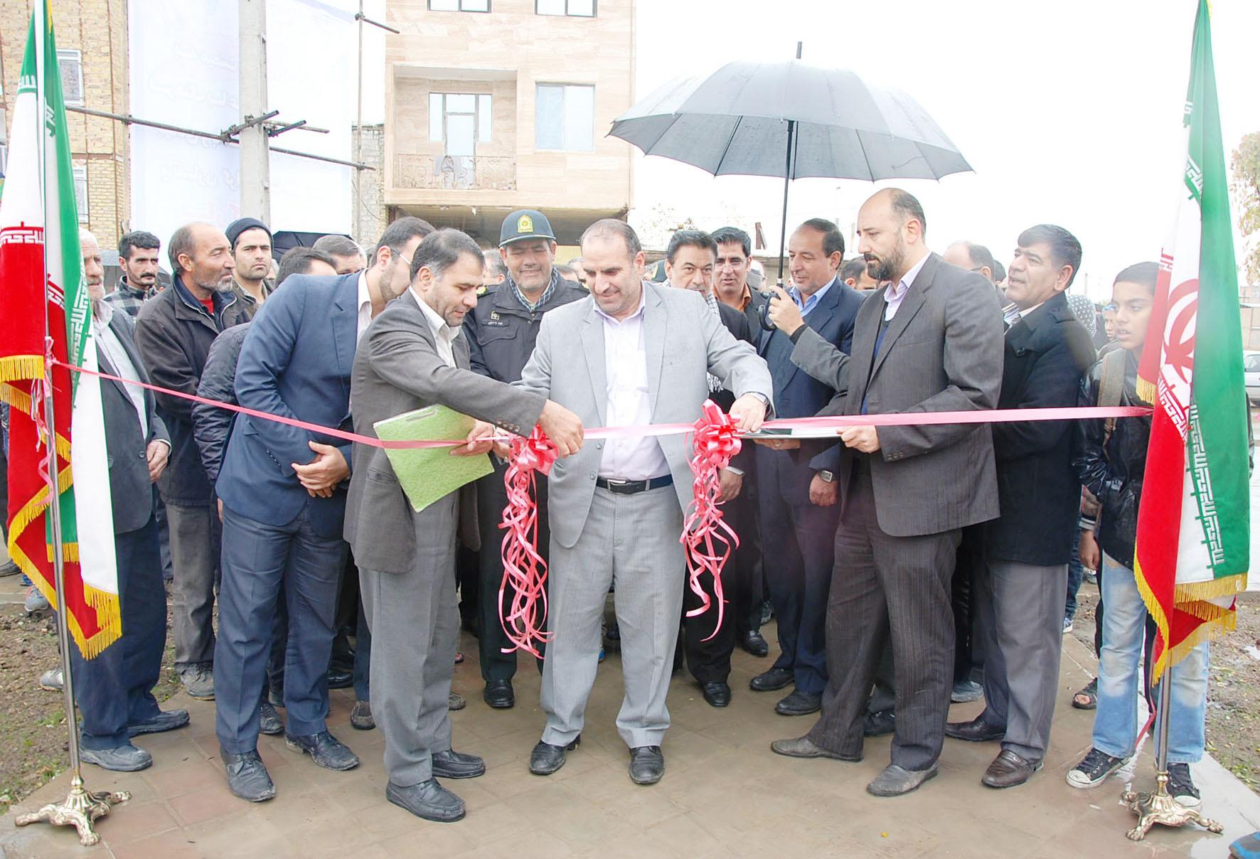 افتتاح نخستین پارک  در محله علیآباد نظرآباد